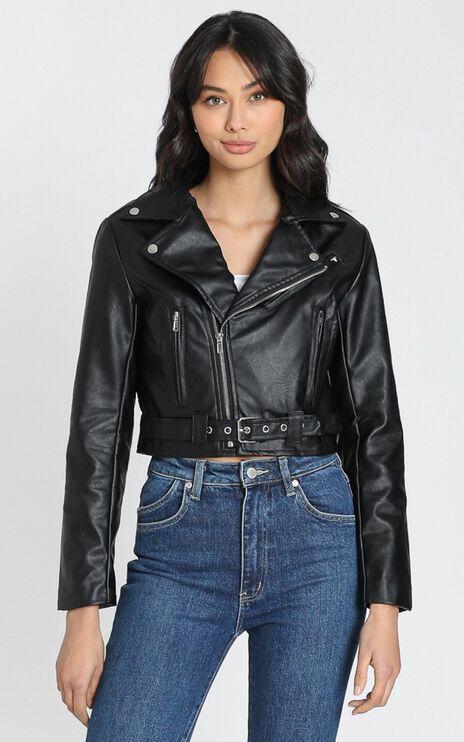 Arrow Jacket in Black Leatherette