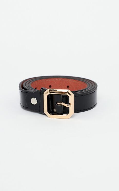 Claire Belt in Black and Gold