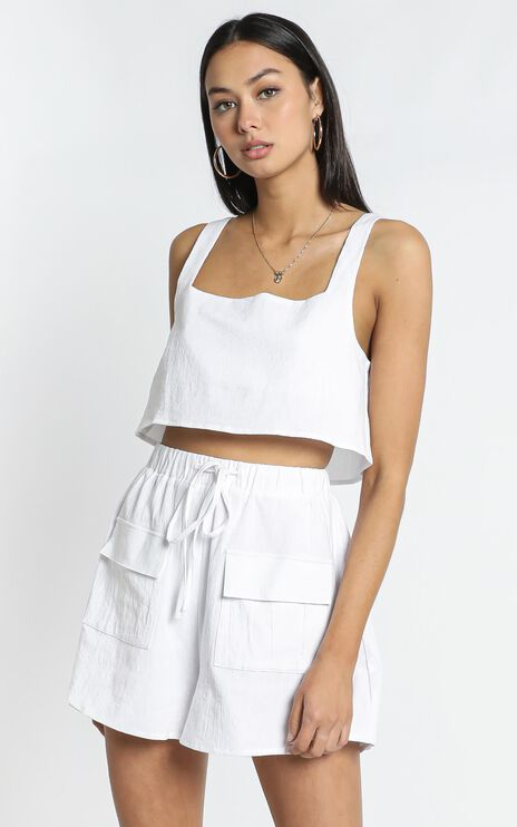 Estelle Crop in White