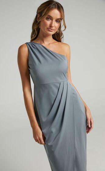 Felt So Happy Dress in Dusty Blue