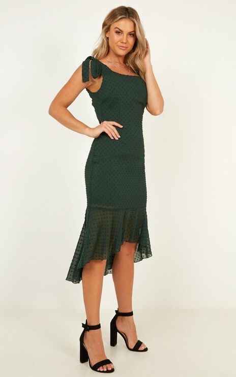 Turn To You Dress In Emerald