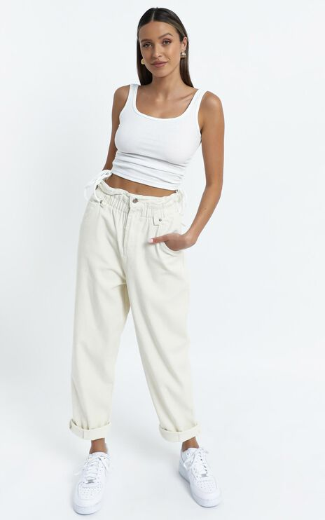 Maygan Jeans in Cream