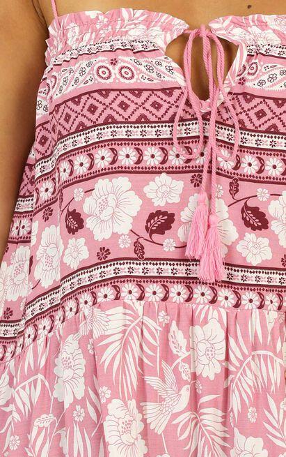 Dance Off Dress in pink print - 8 (S), Pink, hi-res image number null