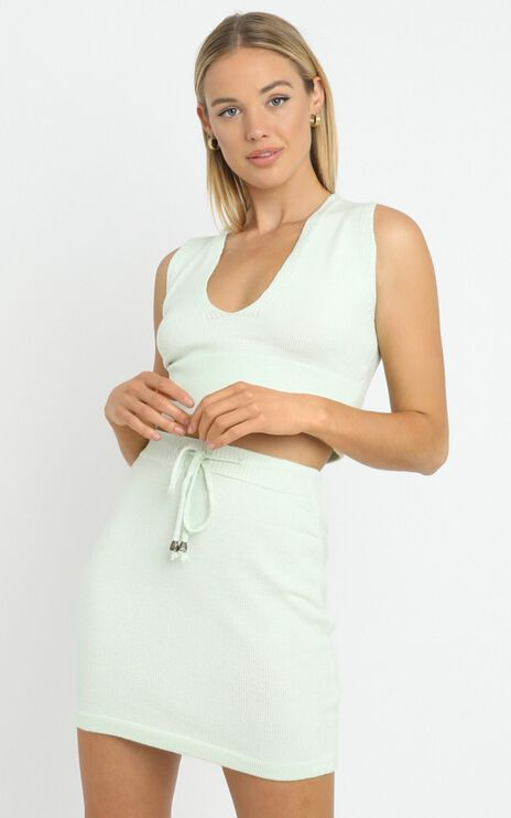 Alden Knit Skirt in Sage