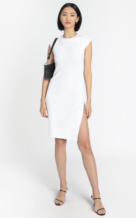 Lioness - Don't Blame Me Midi Dress in White