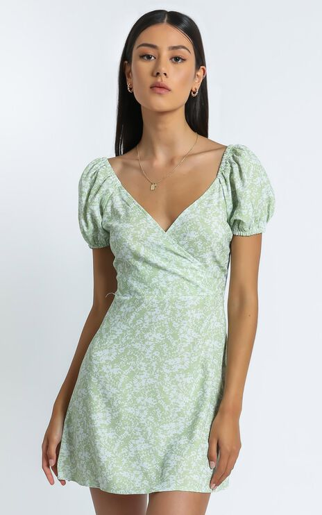 Maisie Dress in Green Floral