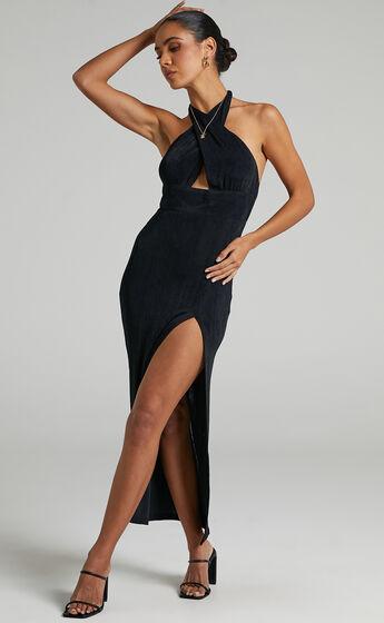 Runaway The Label - Schiffer Midi Dress in Black