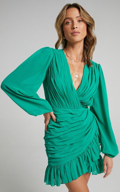 Can I Be Your Honey Dress in Jade