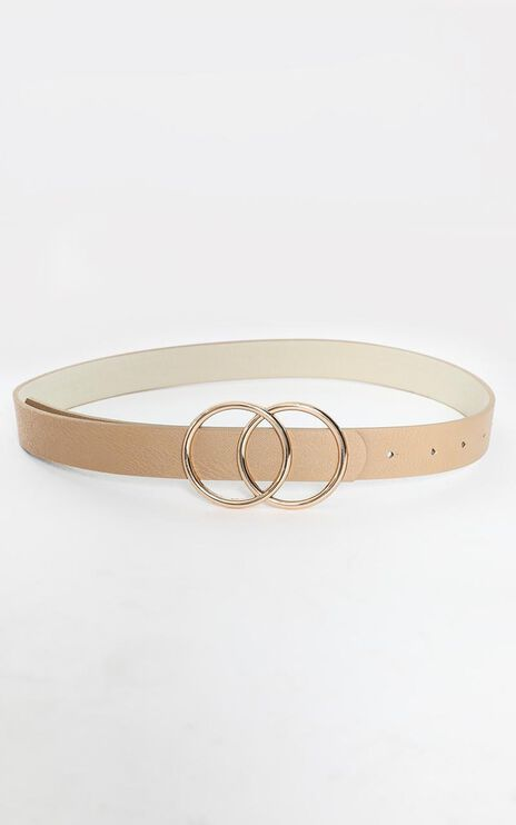 This Time Belt in Nude and Gold