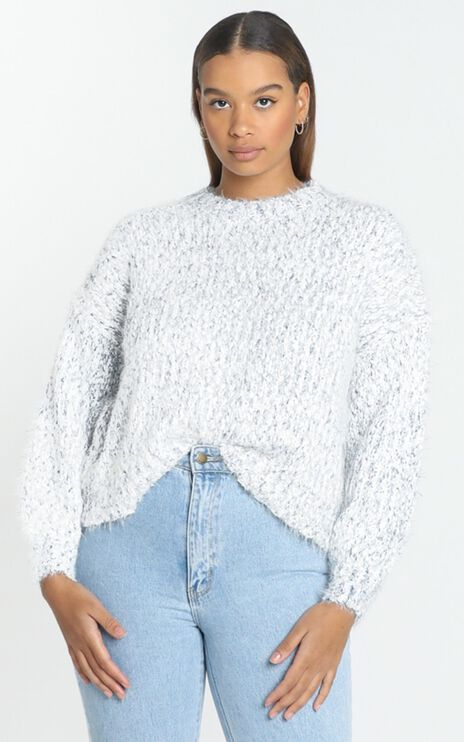Gwyneth Jumper in White Marle