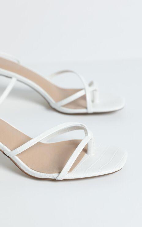 Therapy - Aliana Heels in White Croc