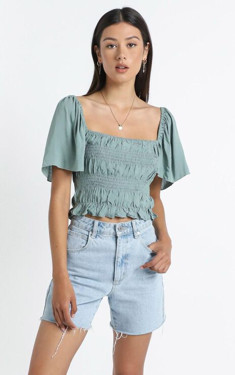 Jessalyn Top in Sage