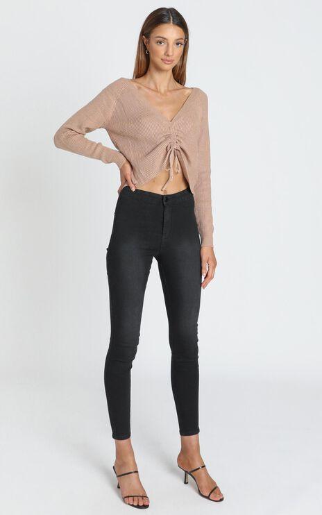 Madeline Skinny Jean in Washed Black