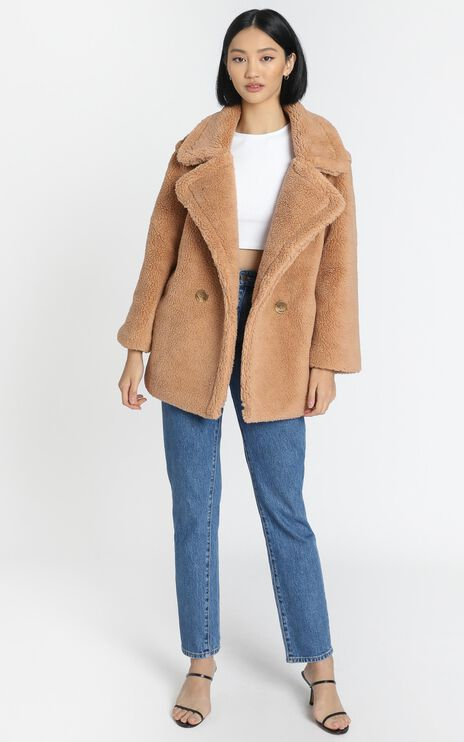 Aila Coat in Camel