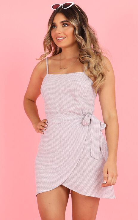 No Coincidence Dress In Lilac Check