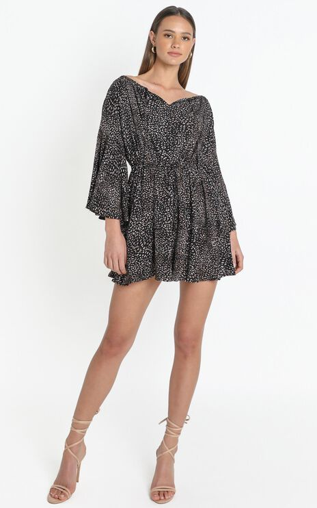Maili Dress in Black Print