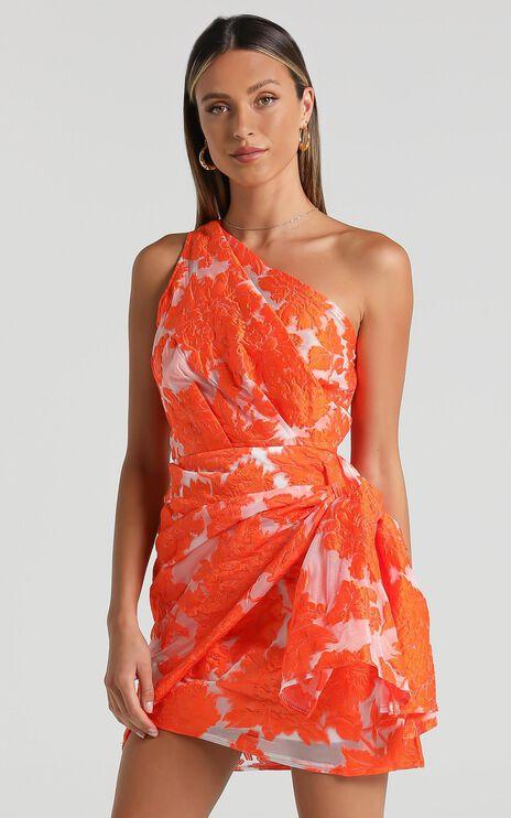 Brailey Dress in Orange Floral