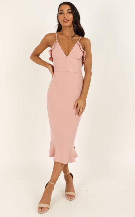 Rose And Petal Dress In Blush