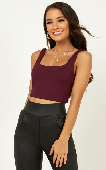 Fall Leaves Top In plum - 20 (XXXXL), Plum, hi-res image number null