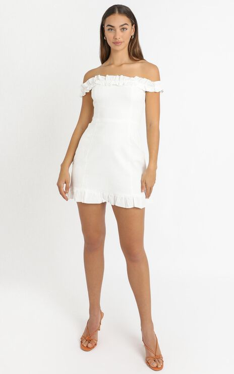 Days Of Summer Dress In White Linen Look