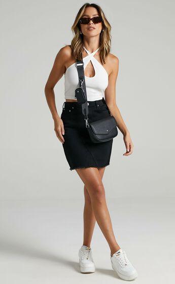 San Diego Denim Skirt in Black Wash