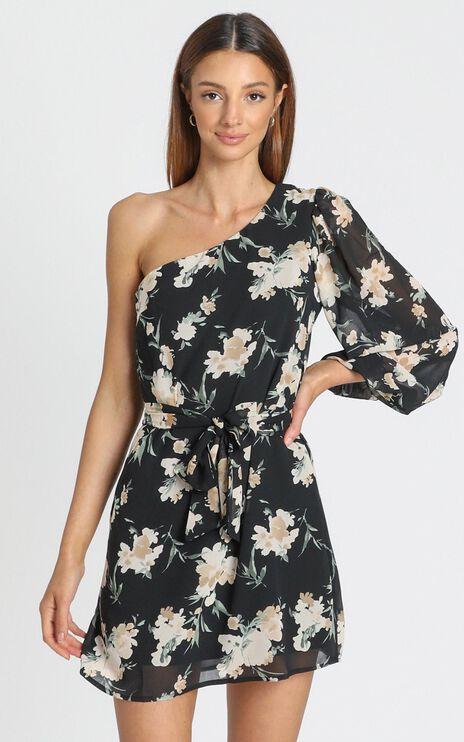 Tasha Dress In Black Floral