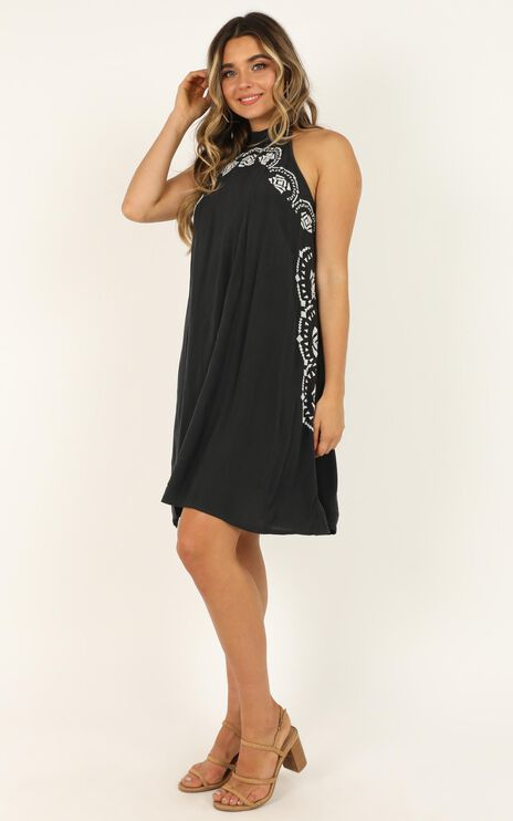 Tongue Tied Dress In Black
