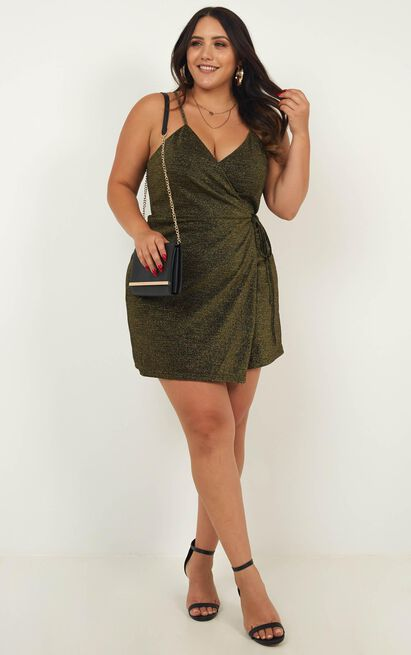 Off The Books Party Dress in black mesh lurex, Black, hi-res image number null