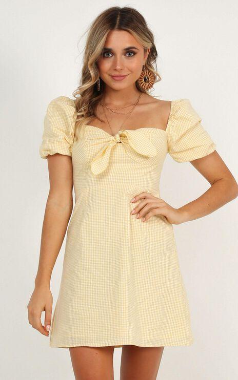 Destination  Love Dress In Lemon