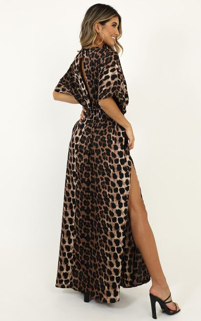Vacay Ready Maxi Dress in leopard print - 20 (XXXXL), Mocha, hi-res image number null