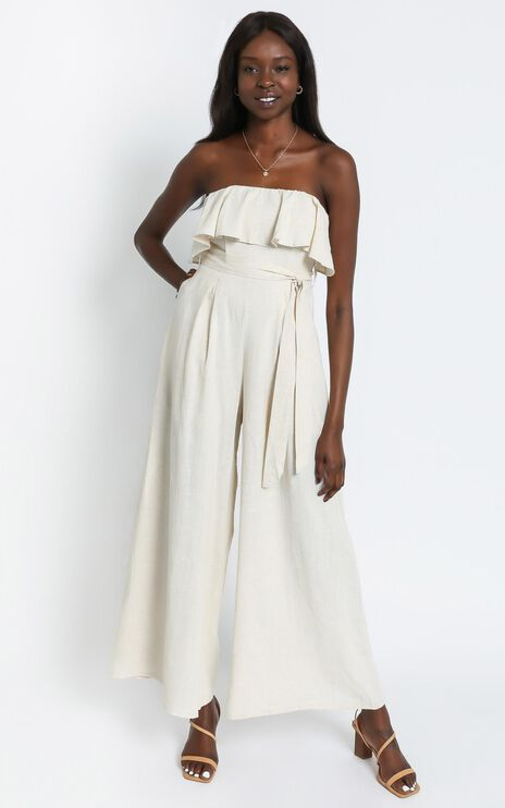 Nessy Bandeau Jumpsuit in Natural