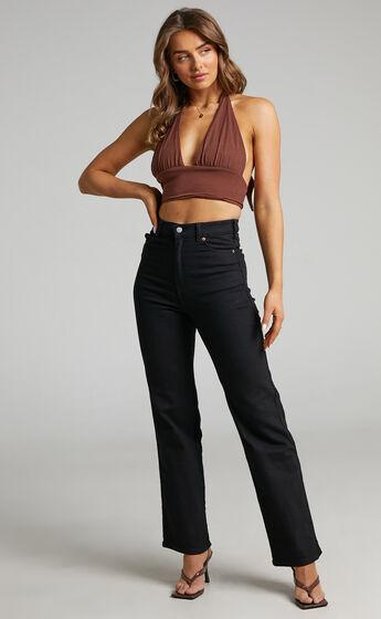 Dr Denim - Moxy Straight Jean in Solid Black