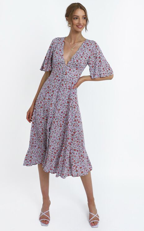 Thea Dress in Lilac Floral