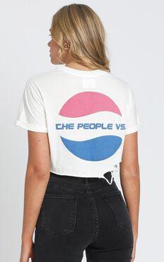 The People Vs - Pop Crop Tee in White