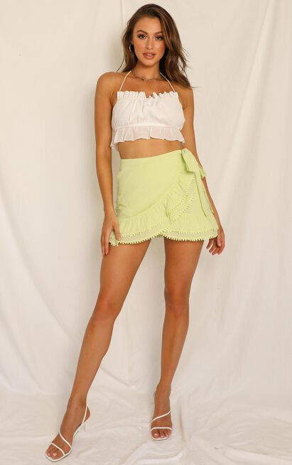 Practically Perfect skirt in citrus linen look - 20 (XXXXL), Yellow, hi-res image number null