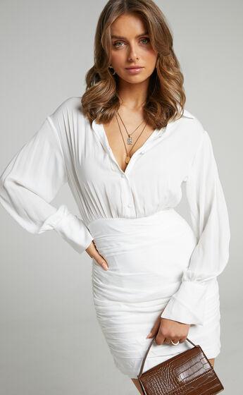 Kansy Shirt Dress in White