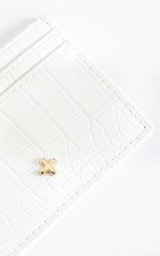 Peta and Jain - Izzy Card Holder in White Croc