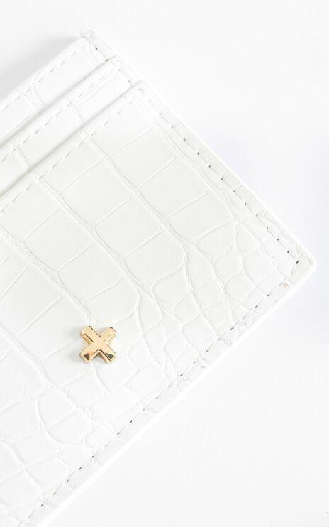 Peta and Jain - Izzy Card Holder in White Croc