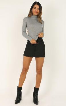 Lust For Life Knit Top In Grey Marle