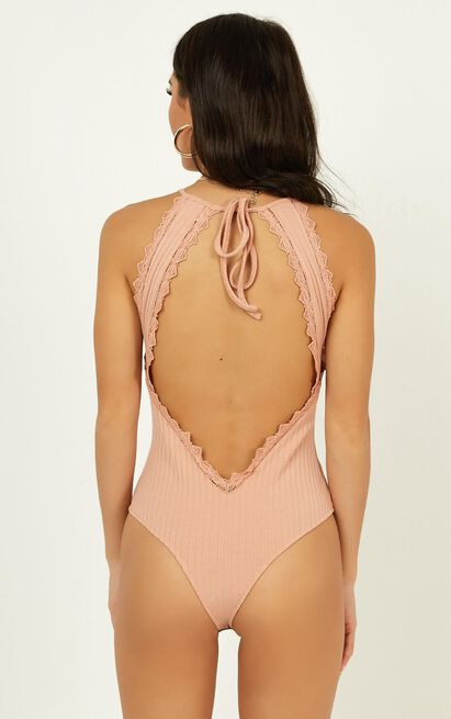 Staring Back At You Bodysuit in blush - 20 (XXXXL), Blush, hi-res image number null
