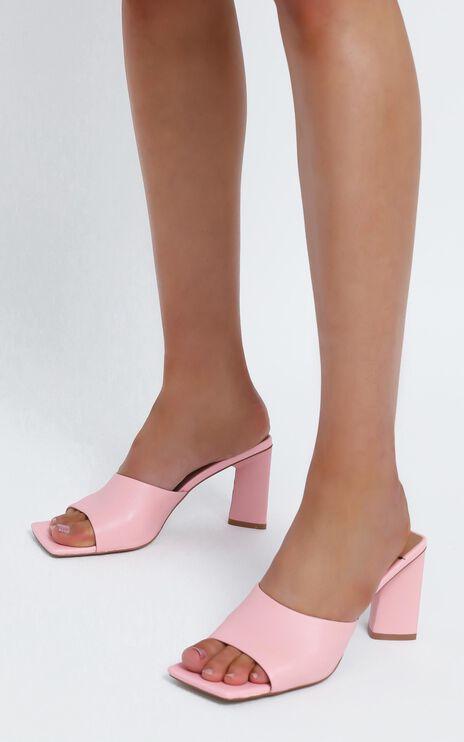 Alias Mae - Macy Heel in Pink Kid Leather