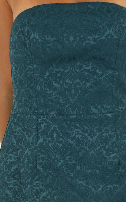 Its Too Late Dress in emerald jacquard - 20 (XXXXL), Green, hi-res image number null
