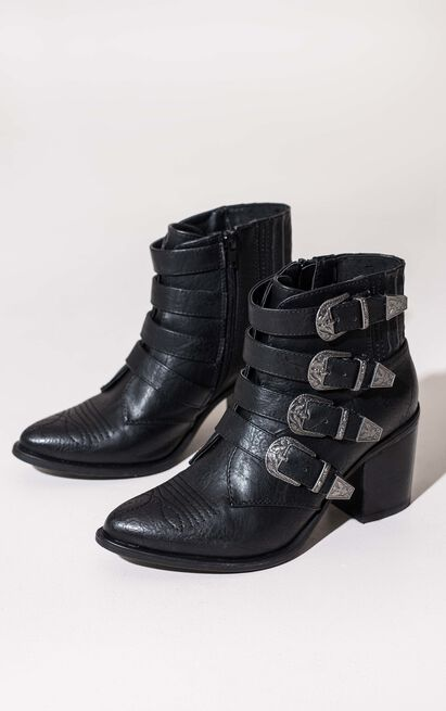 Therapy Shoes - Bexar Boots in black - 5, Black, hi-res image number null
