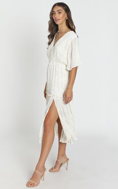 Remi Midi Dress In White