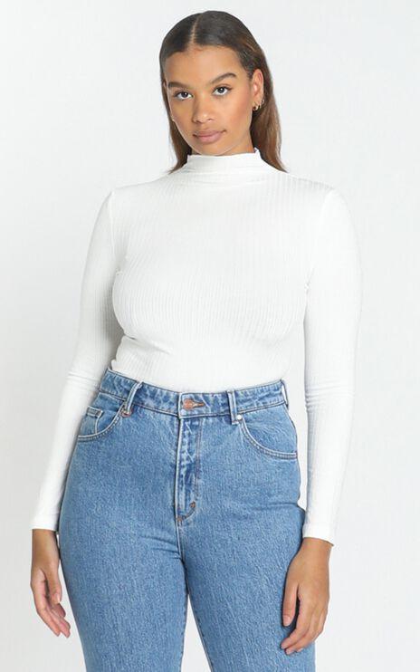 Danika High Neck Top in White