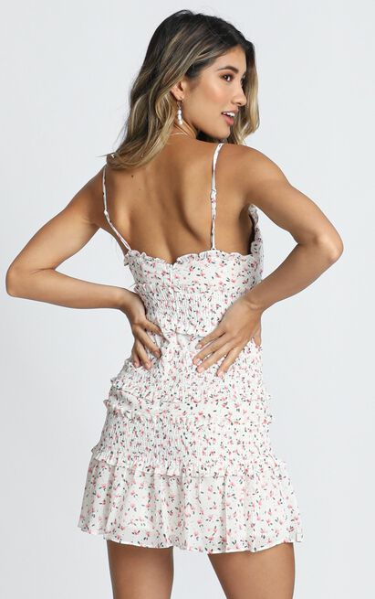 The Final Night Dress In White Floral - 16 (XXL), White, hi-res image number null