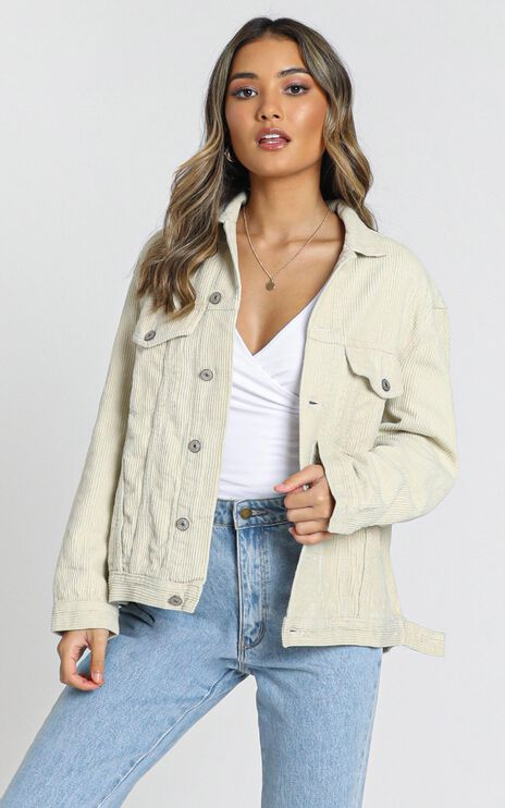 Heartwarming Jacket In Beige Cord