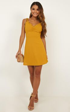 Bring It Out Dress In Mustard