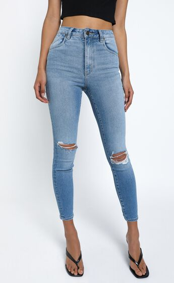 Rollas - Eastcoast Ankle Jean in Ocean Worn