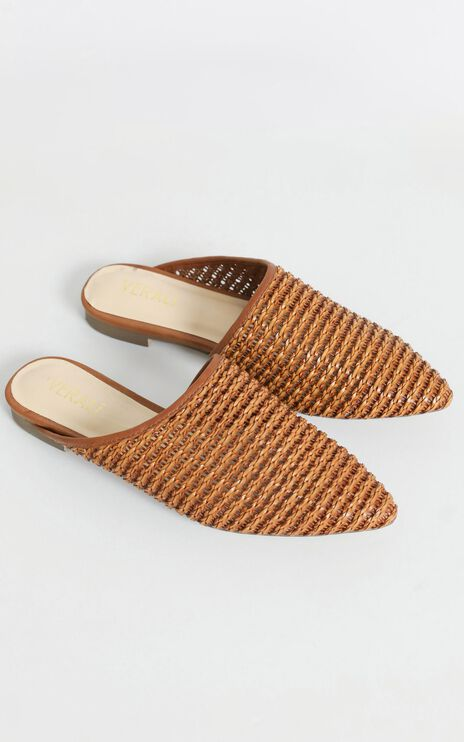 Verali - Rousing Slides in Tan Weave